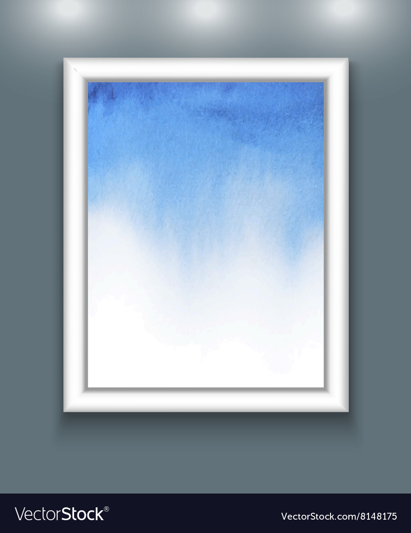 Watercolor background in frame