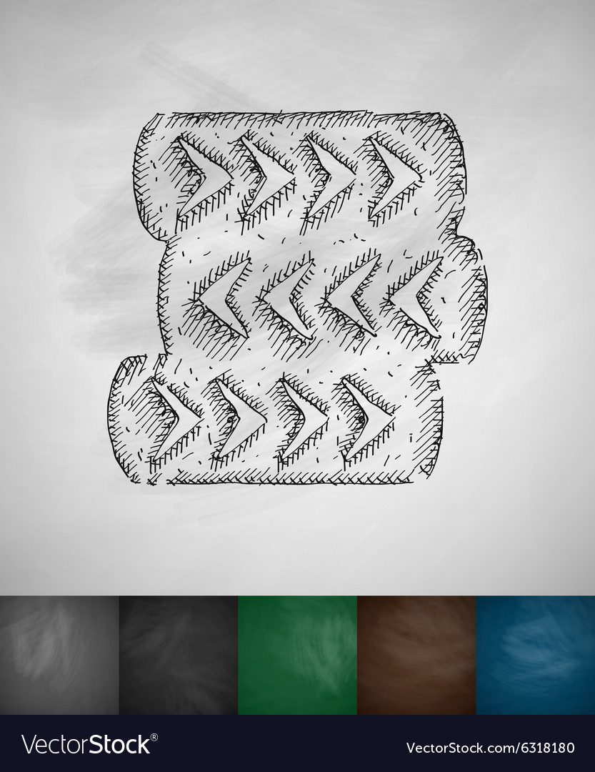 Barricade of tires icon vector image