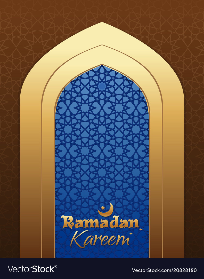 Beautiful greeting card for holy month ramadan