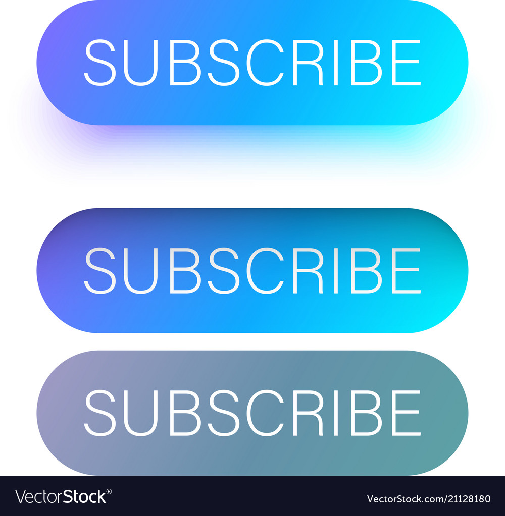 Blue subscribe web buttons isolated on white