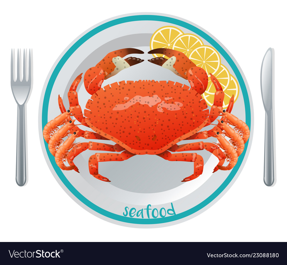 Cartoon seafood meal concept