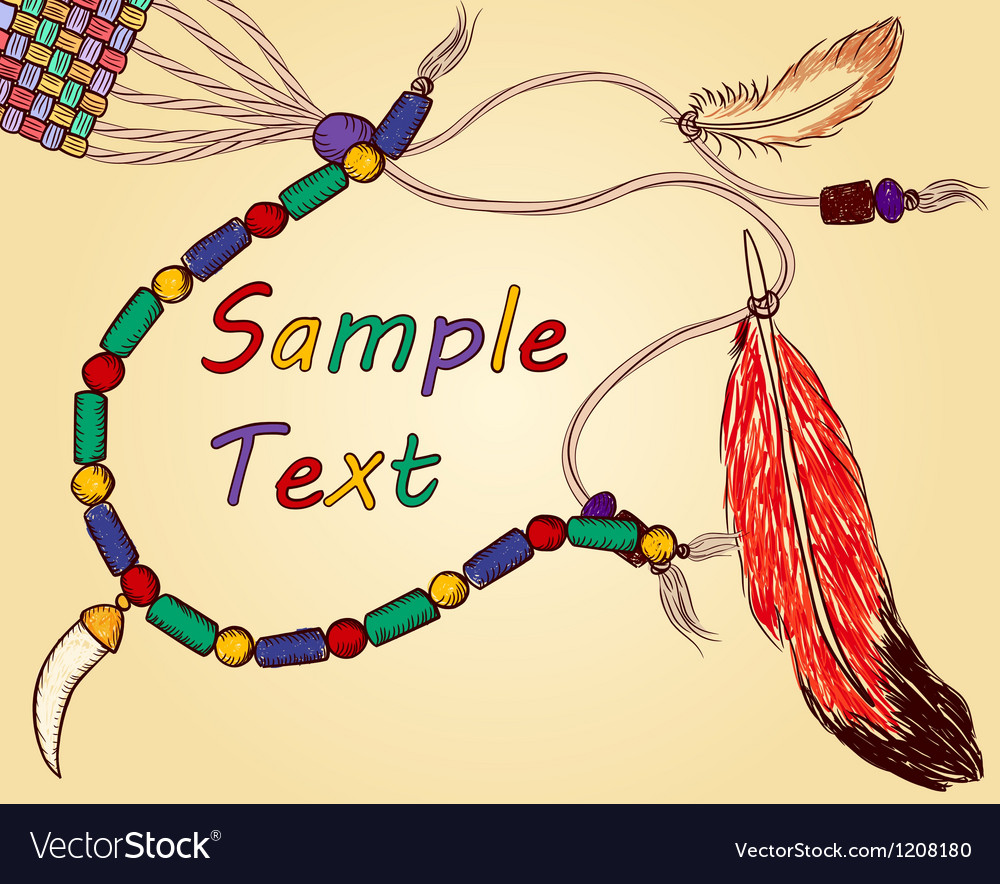 Colorful hand-drawn Indian background vector image