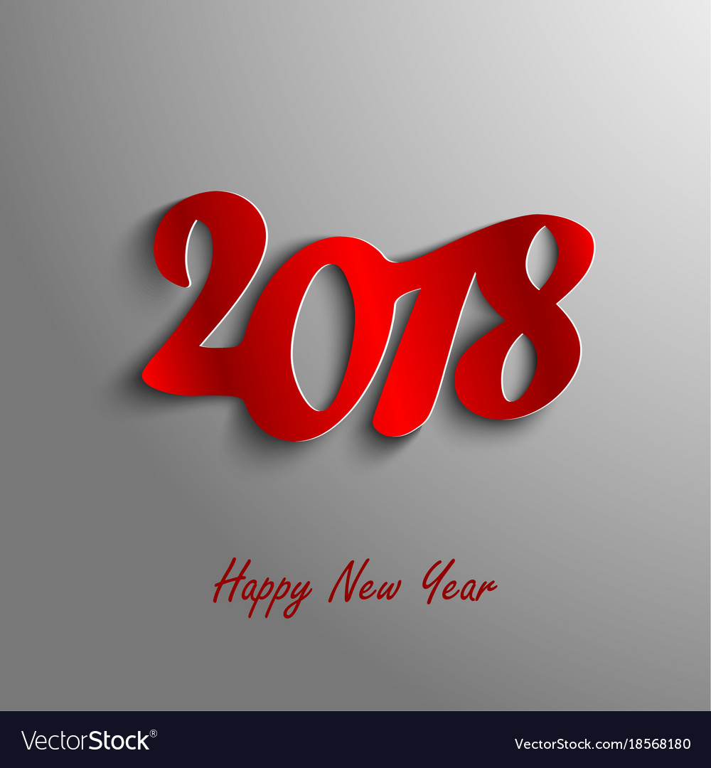 design abstract new year wishes on gray background vector image