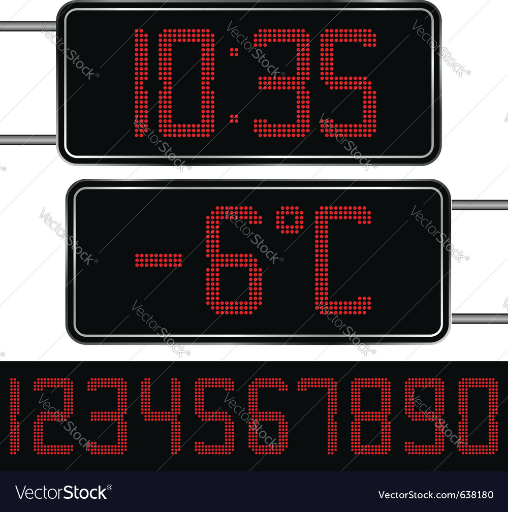 Digital clock and thermometer