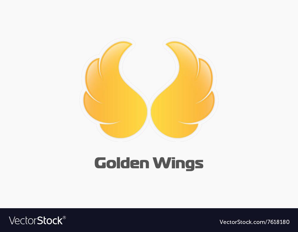 Golden wings logo Creative logo Beautiful logo