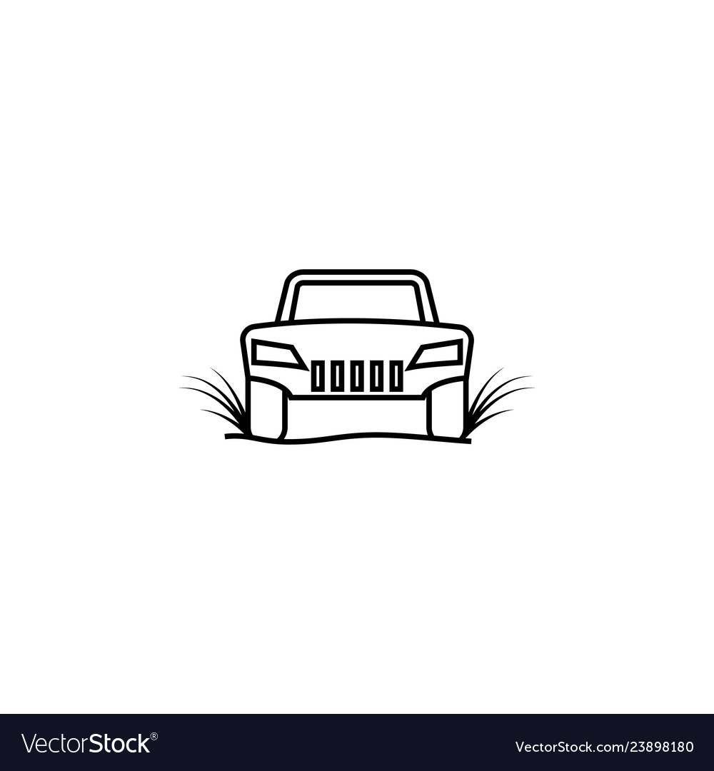 Racing car off road icon element of racing for