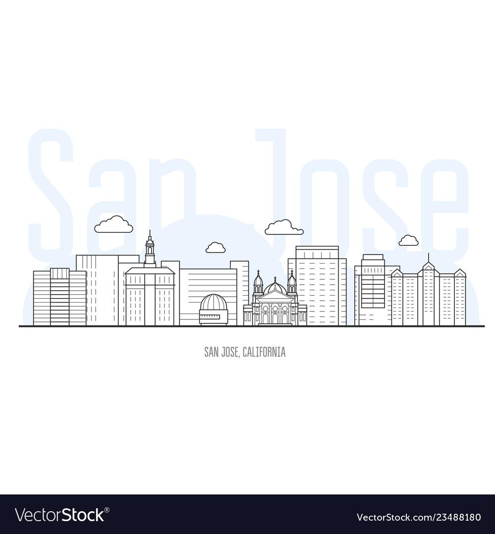 San jose city skyline - cityscape san jose