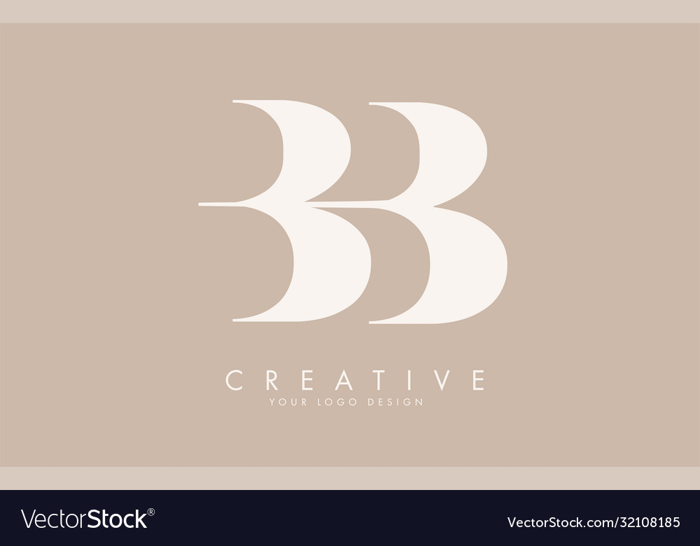 Bb b letters logo design