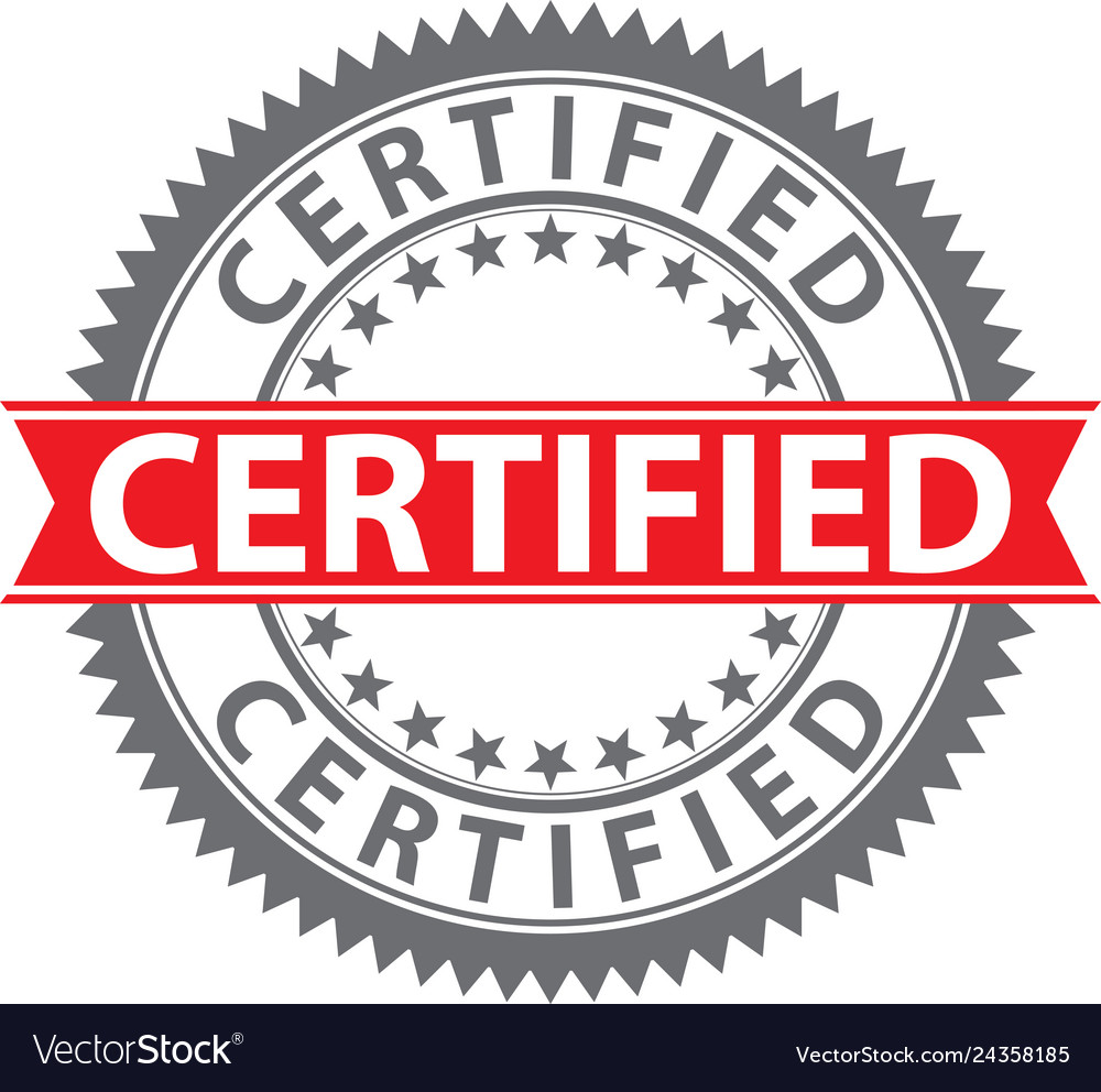 Certified stamp certified badge