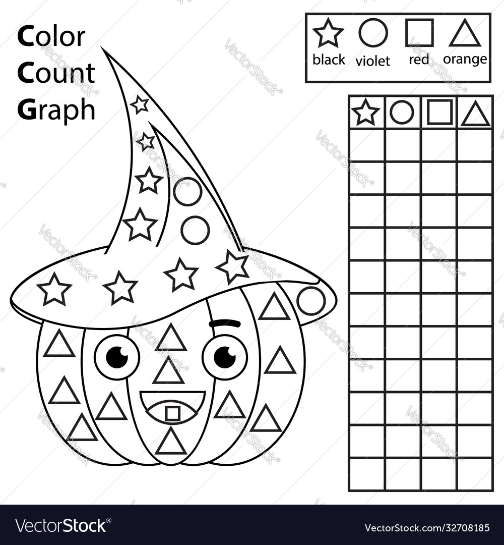 Color count and graph educational children game