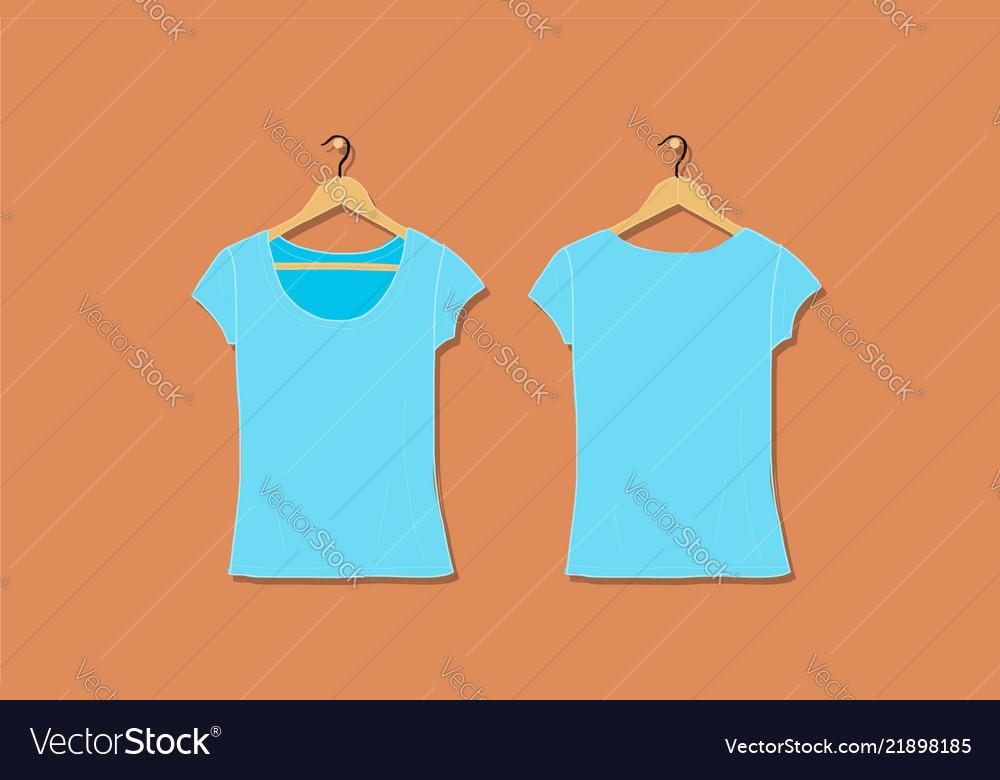 Female tshirt mockup white for your design
