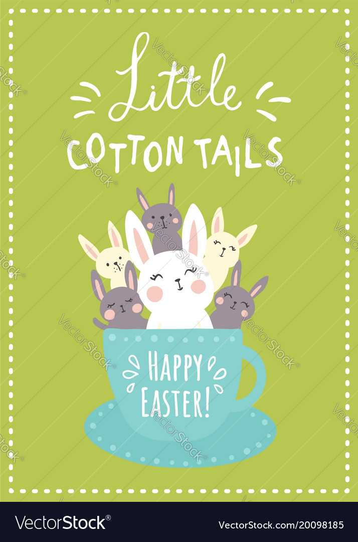 Green cotton tails vector image