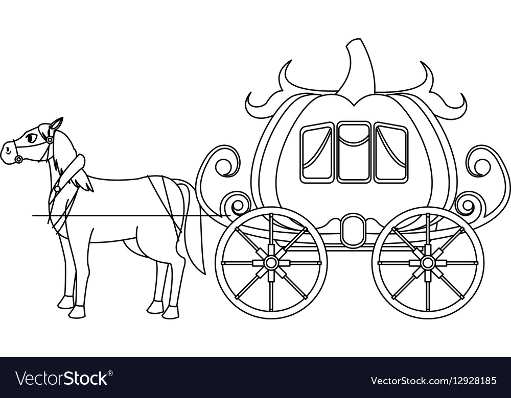 Рисунок кареты из сказки золушка