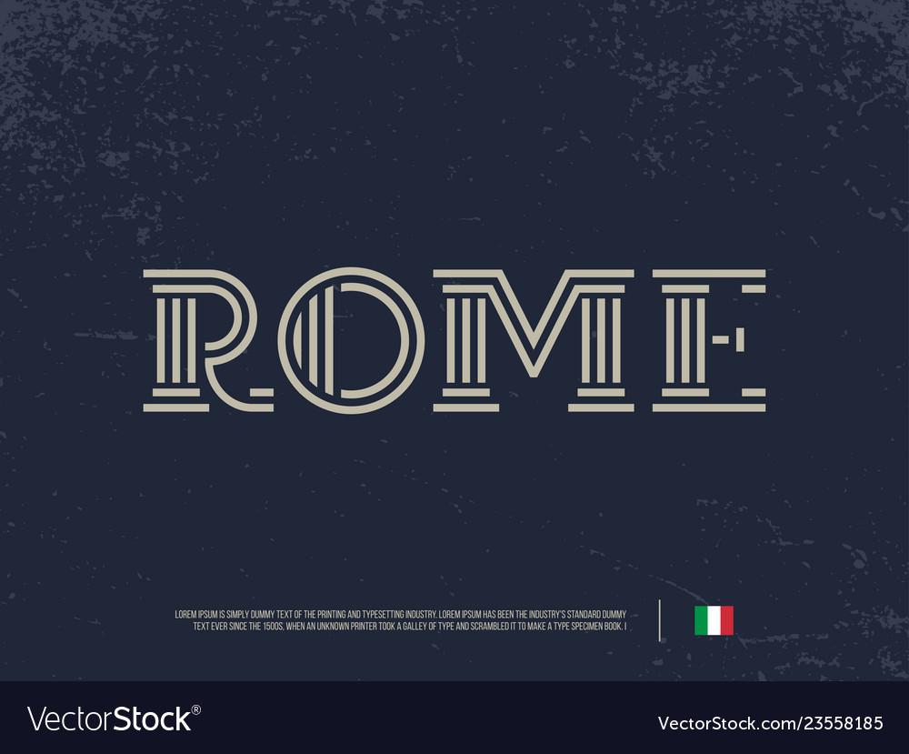 Modern professional logo lettering rome