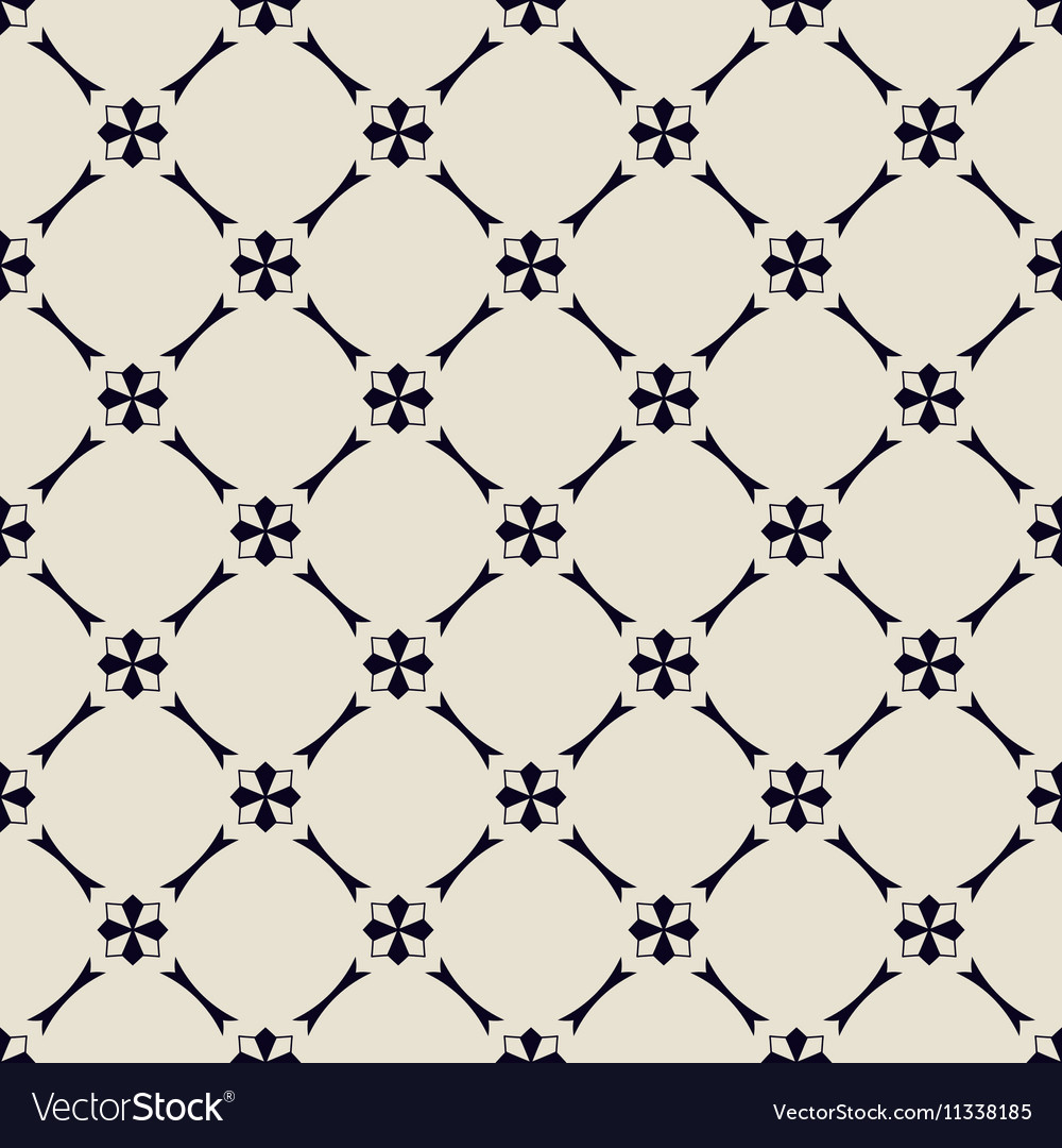 Seamless black-and-white pattern vector image
