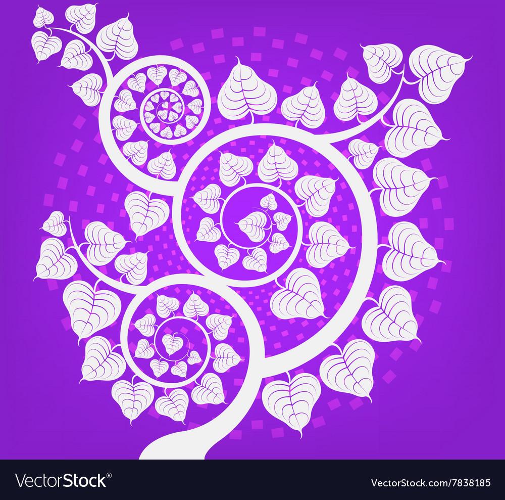 Silver Bodhi tree scene vector image