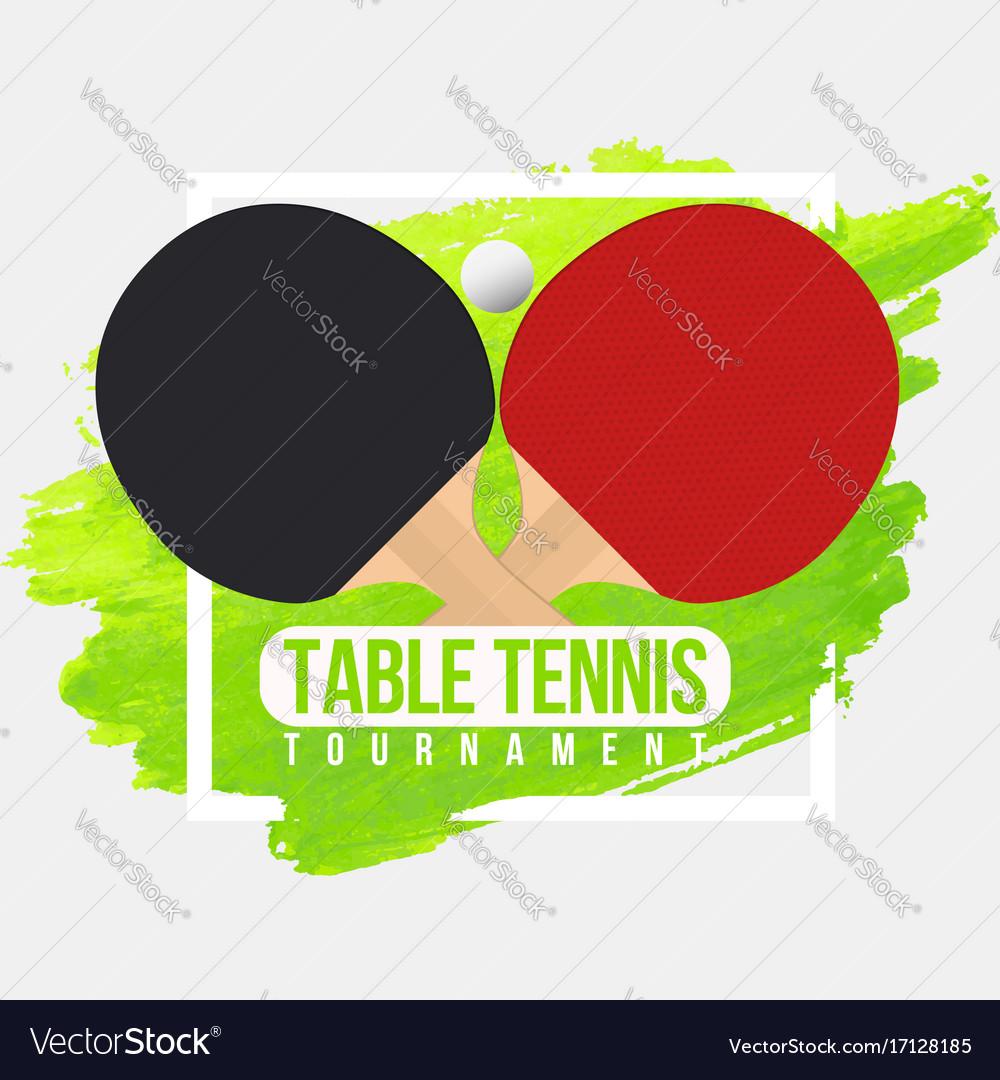 Table tennis tournament badge design ping pong