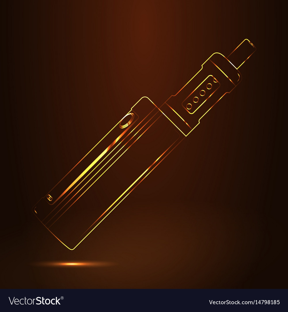 Vape shop luxury golden symbol