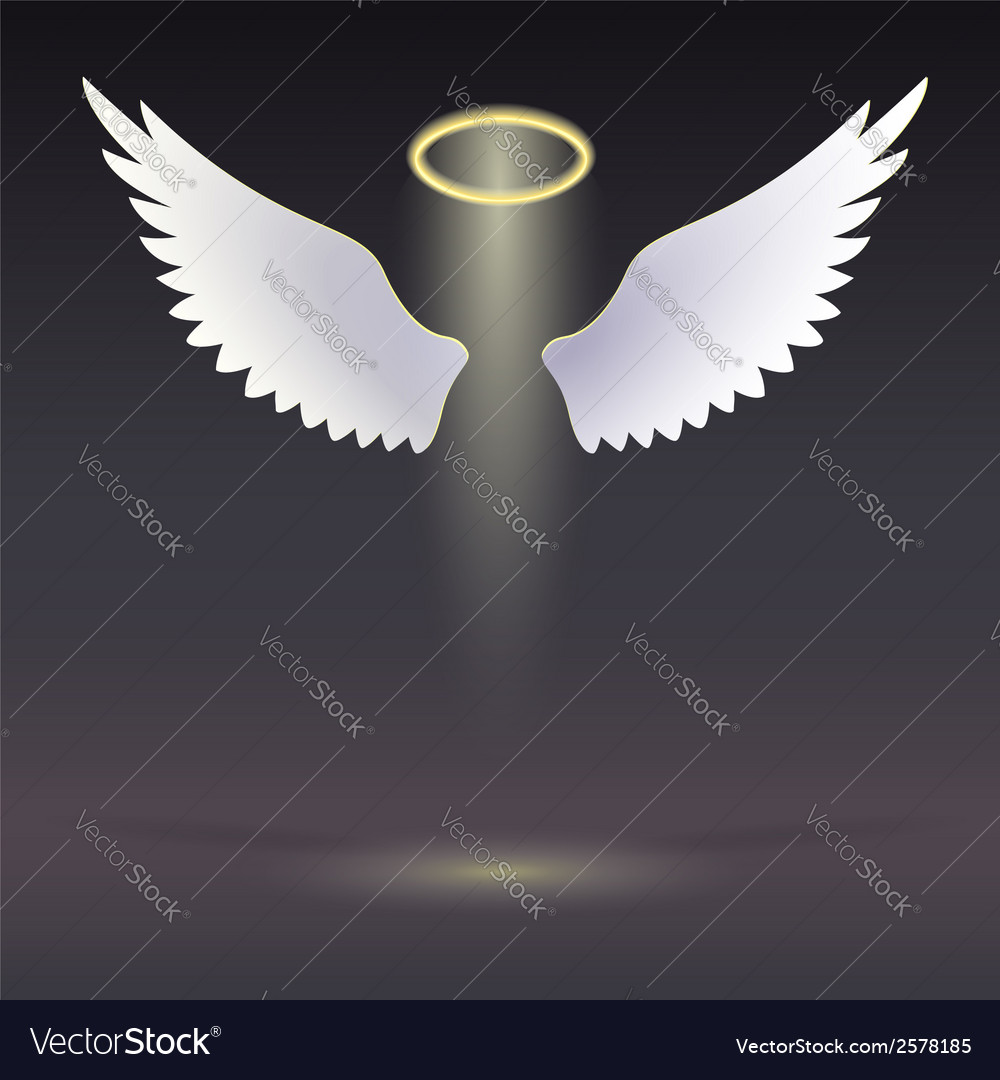 Wings and golden halo