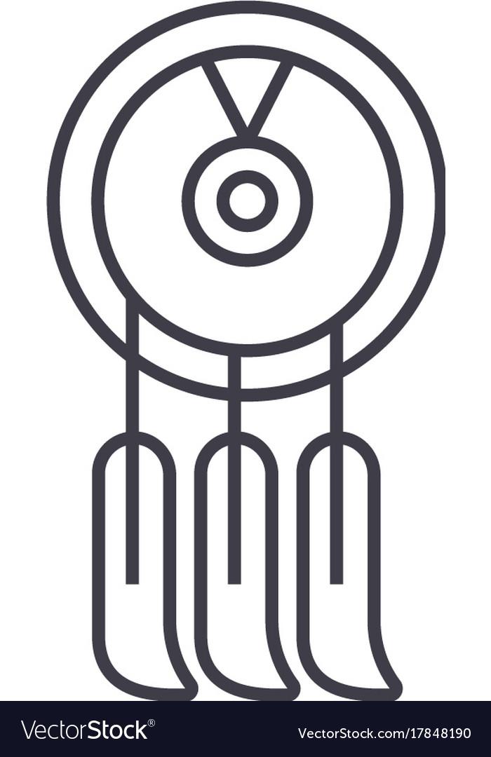 Dreamcatcher line icon sign