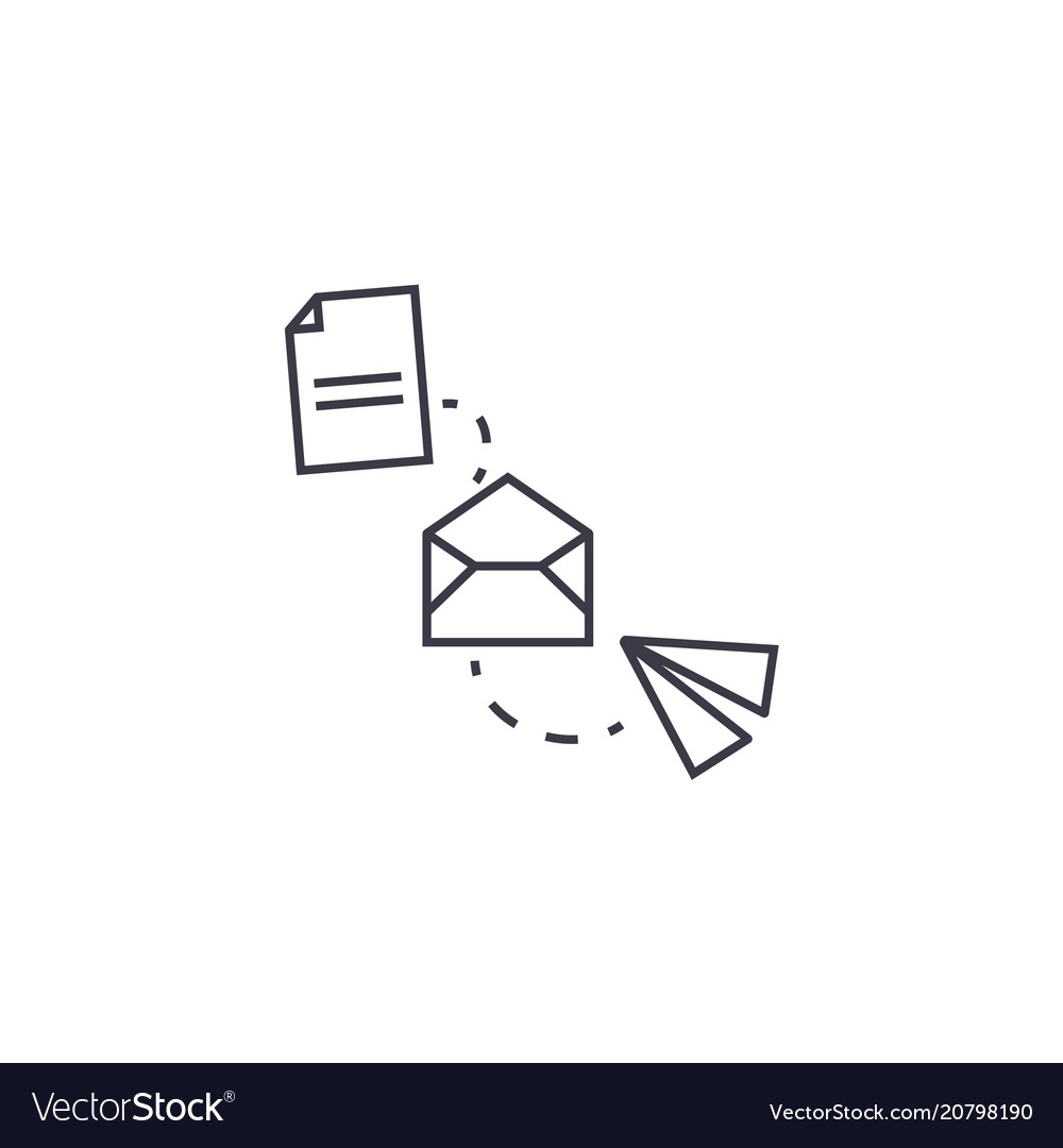 File transfer line icon sign