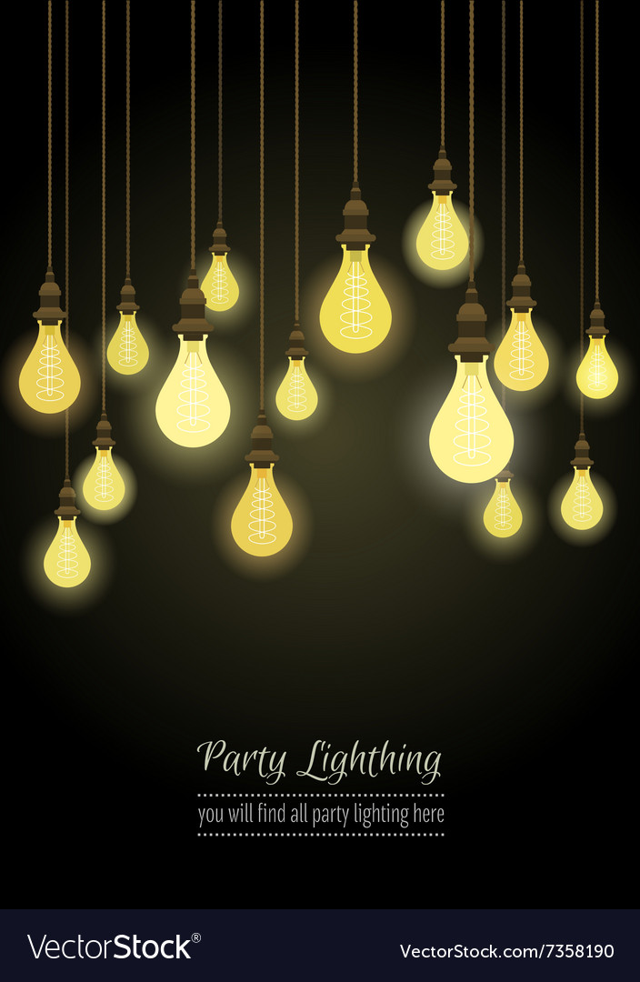 hanging light bulbs royalty free vector image vectorstock