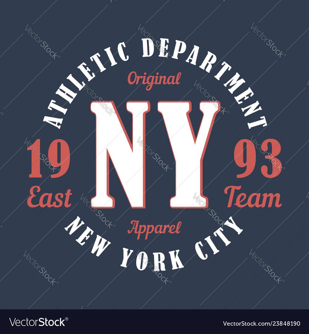 New york sports apparel typography emblem