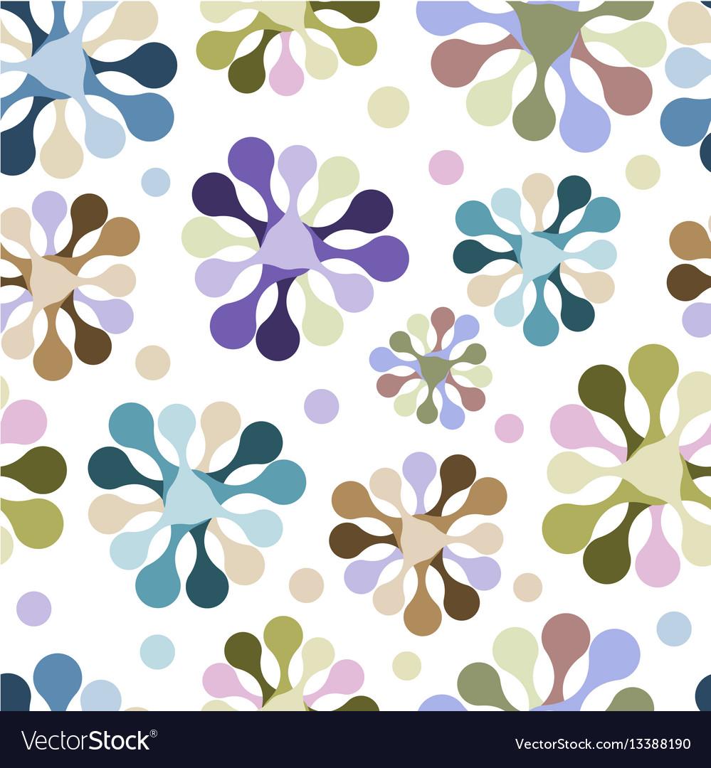Seamless pattern of flowers of unusual pastel vector image