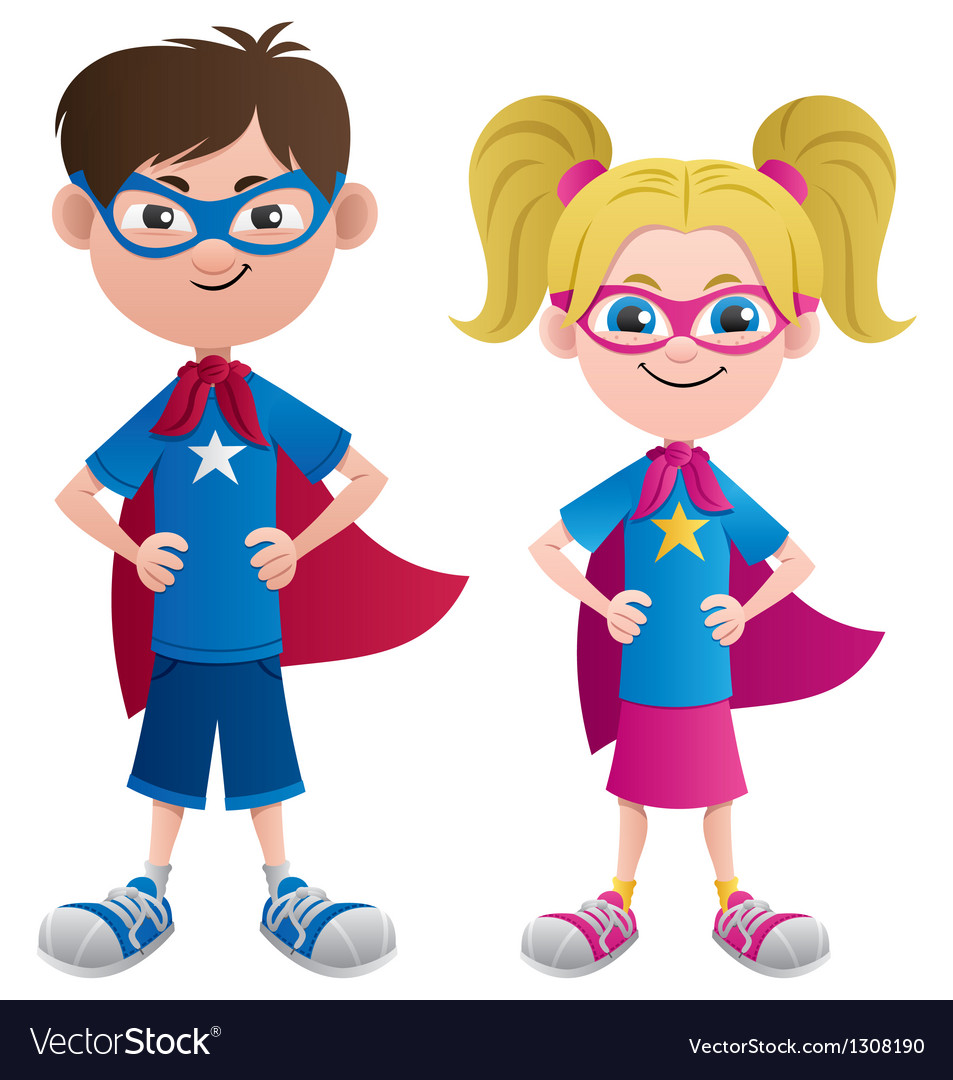 Super Kids Royalty Free Vector Image - VectorStock