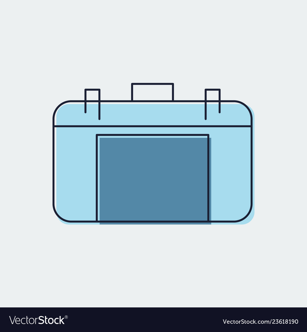 Travel bag flat icongraphic design