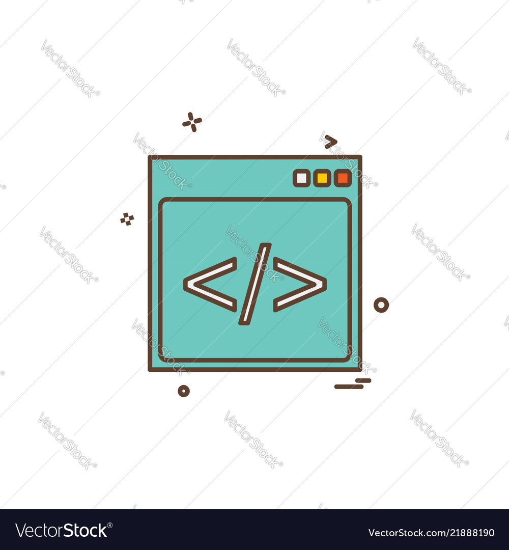 Web layout icon design