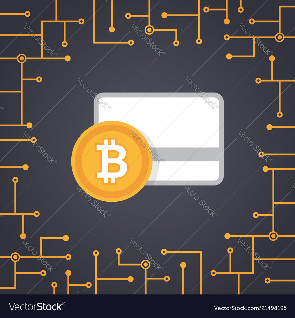 Bitcoin payment in flat design