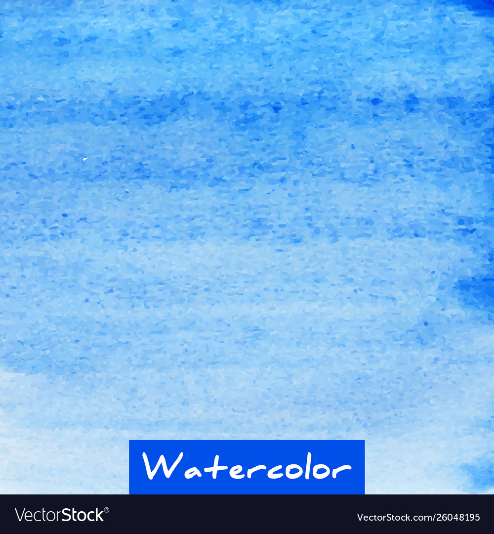 Blue watercolor hand drawn textured background