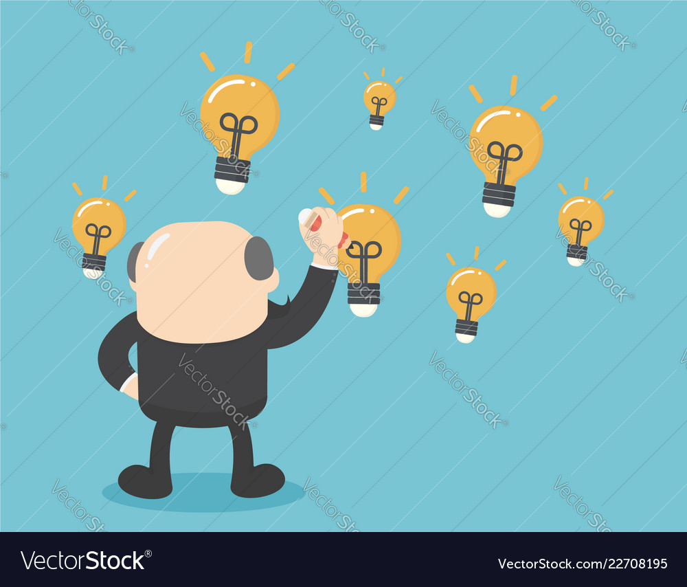 Business concept elderly business is writing a