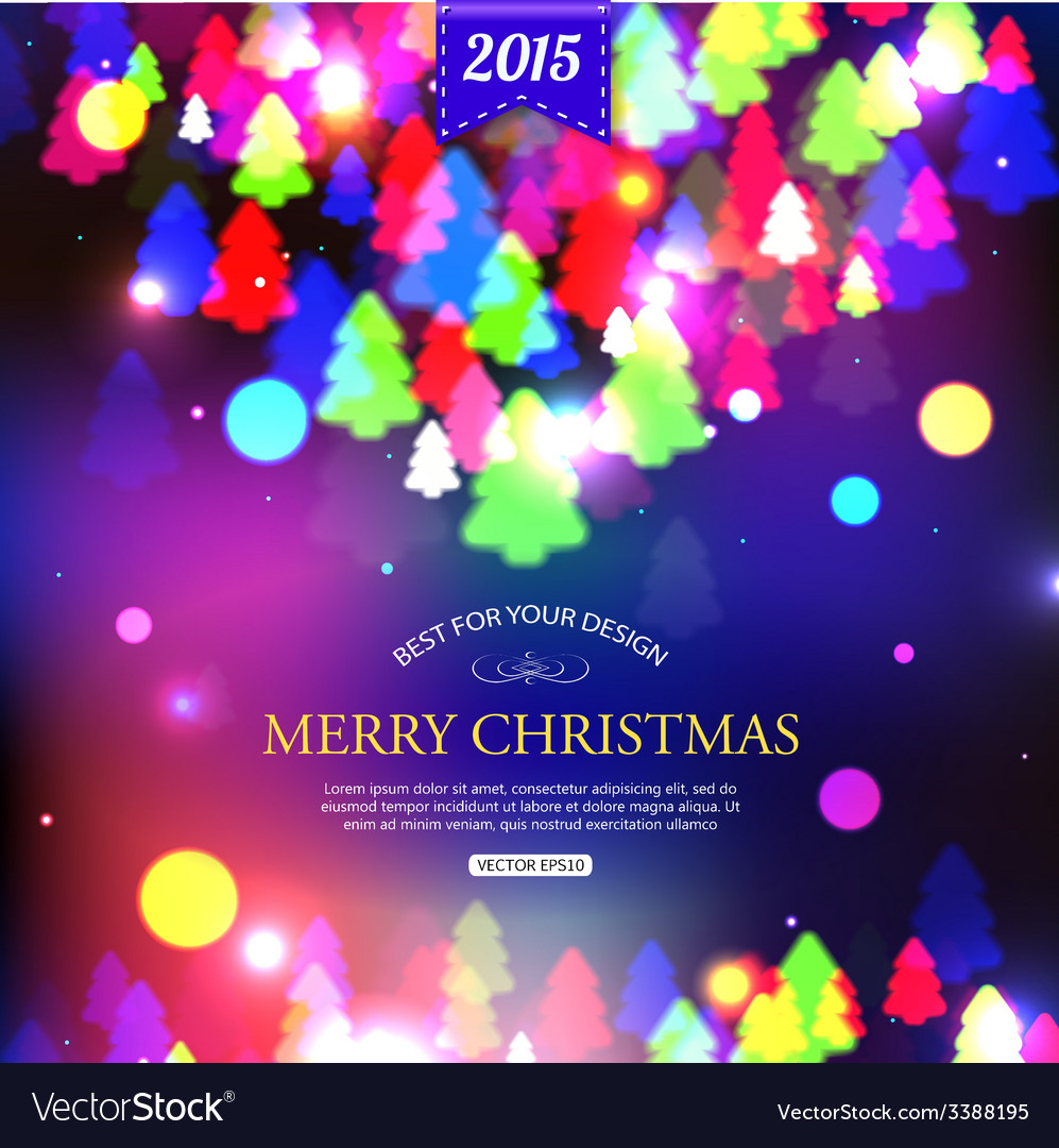 Christmas shining typographical background with
