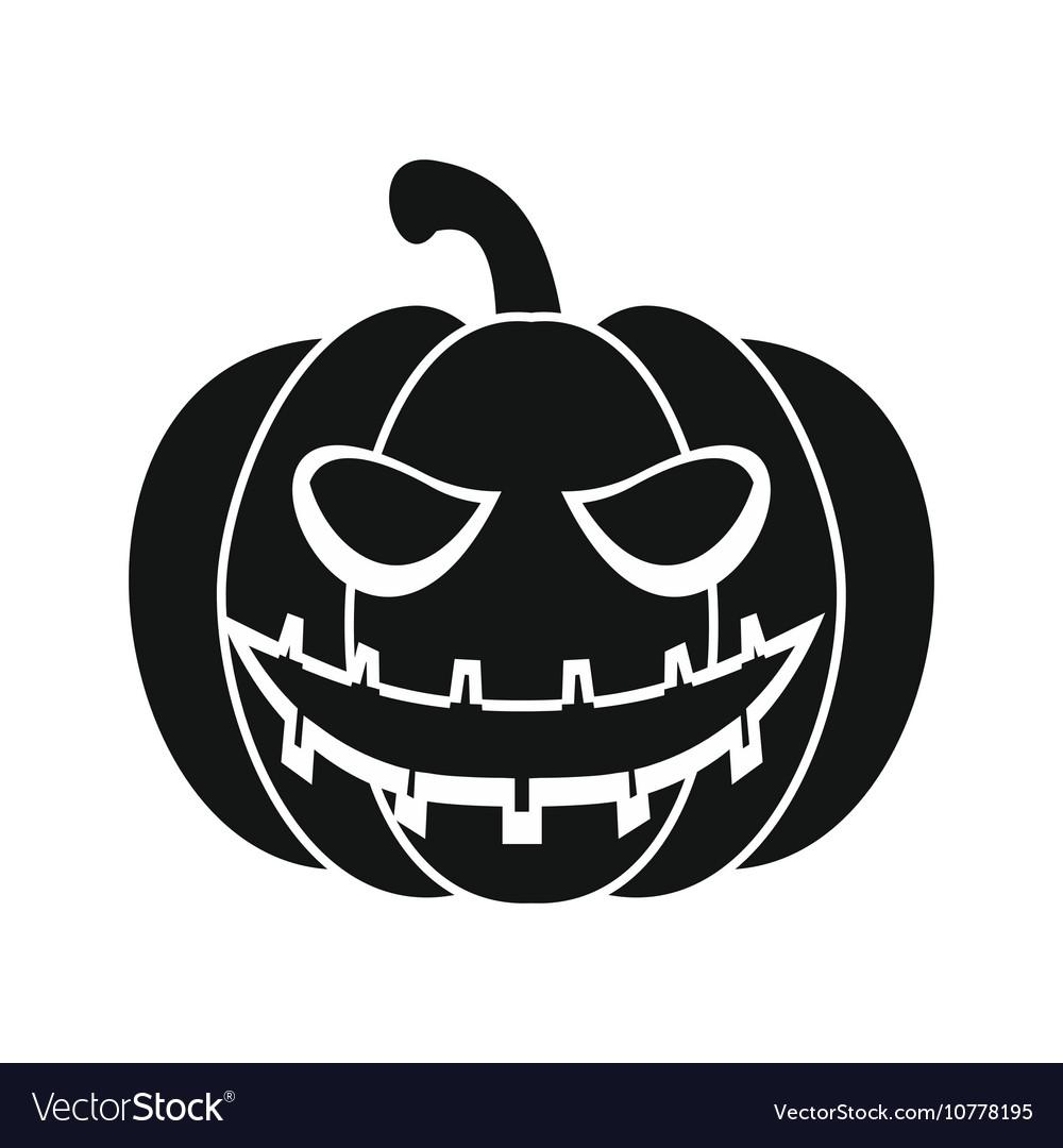 Halloween pumpkin icon simple style