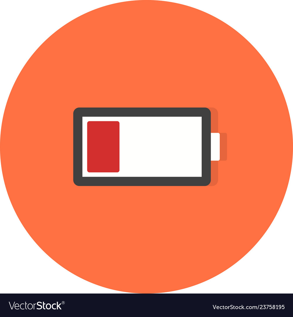 low battery icon royalty free vector image vectorstock vectorstock