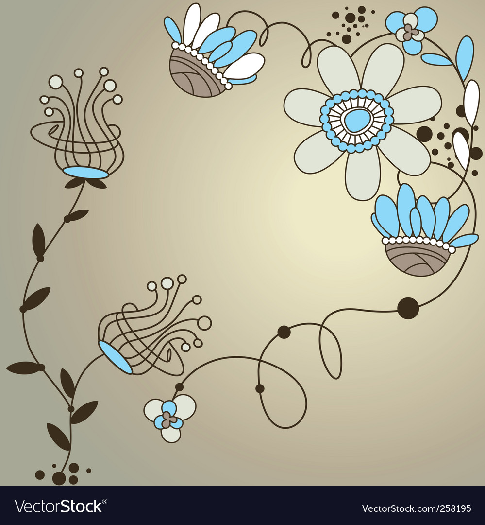 Modern Floral Background Royalty Free Vector Image