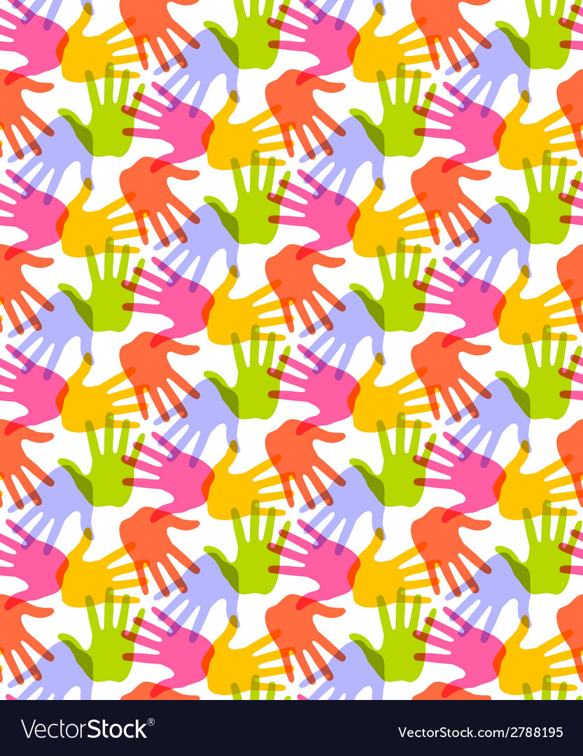 Seamless Pattern Print of Hands