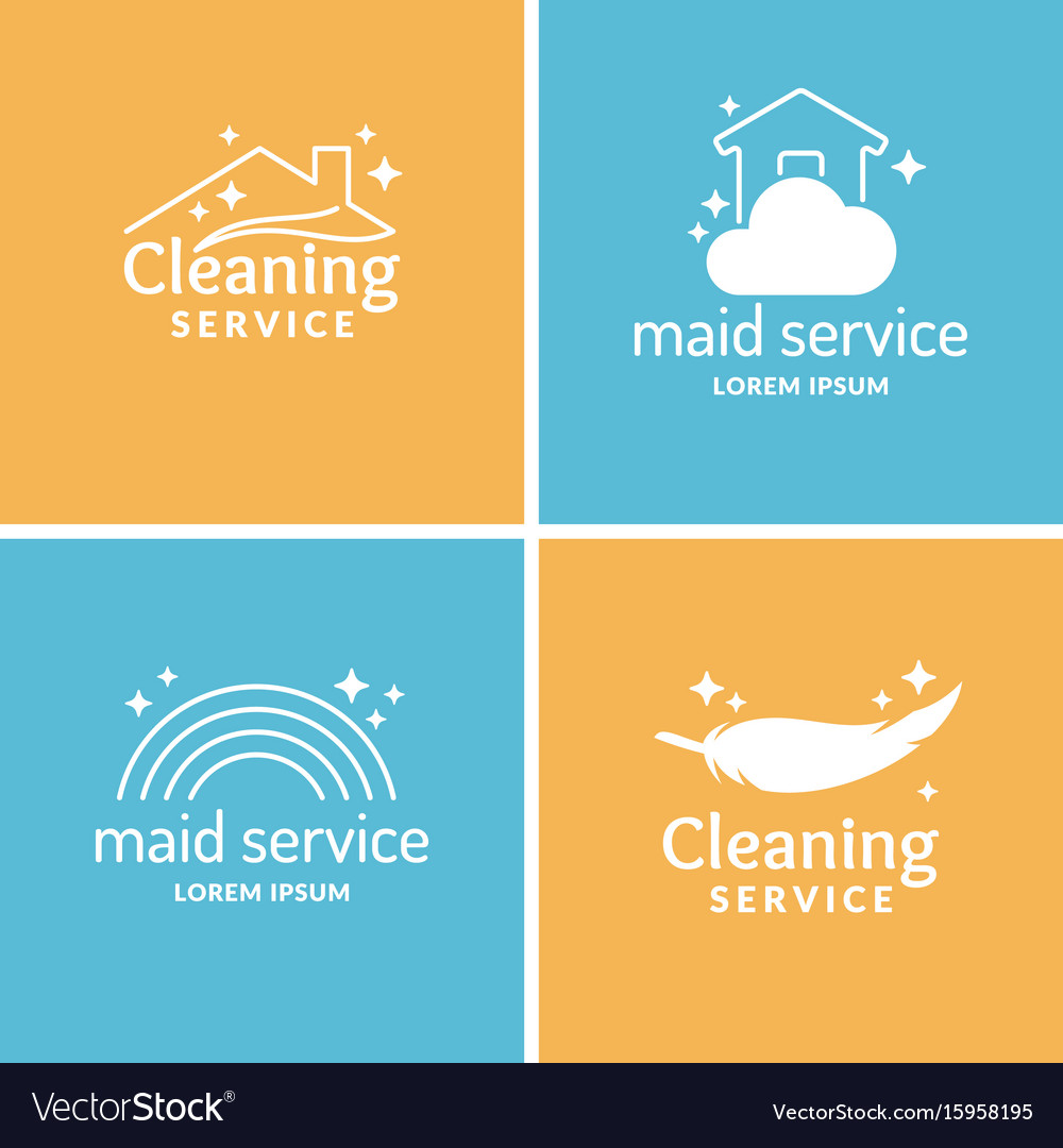 Set cleaning and maid service label collection