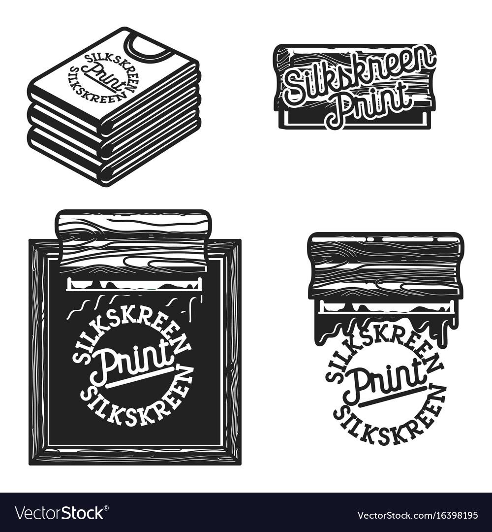Vintage silkskreen print emblems