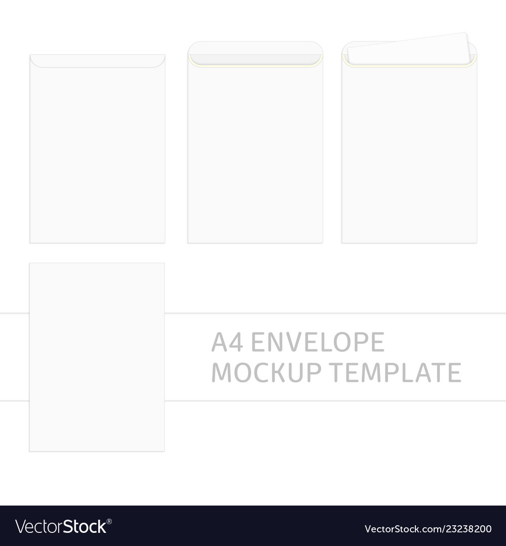 A4 Envelope Template Vector Image