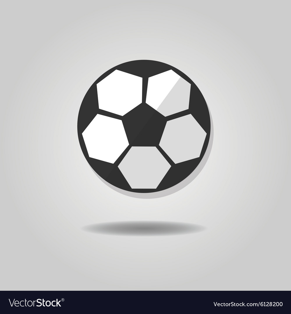 Abstract single soccer ball icon