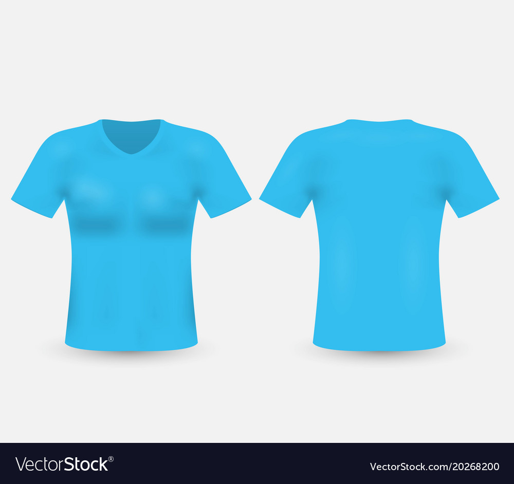 Blue T Shirt Template Isolated On Background Mens Vector Image