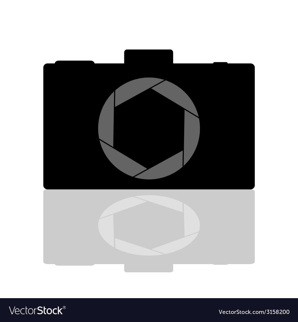Camera aperture vector image