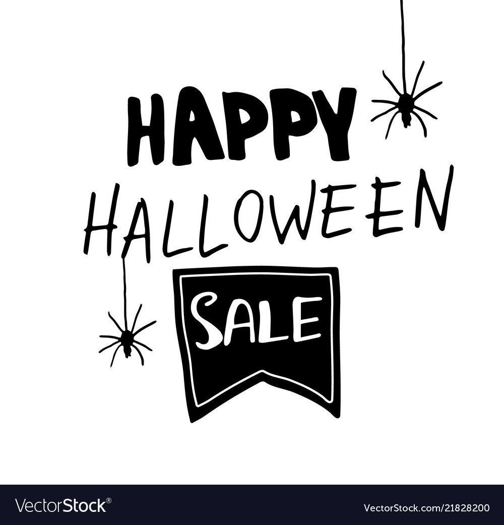 Halloween sale banner with lettering