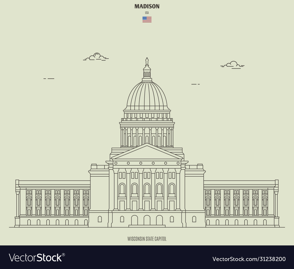 Wisconsin state capitol in madison usa