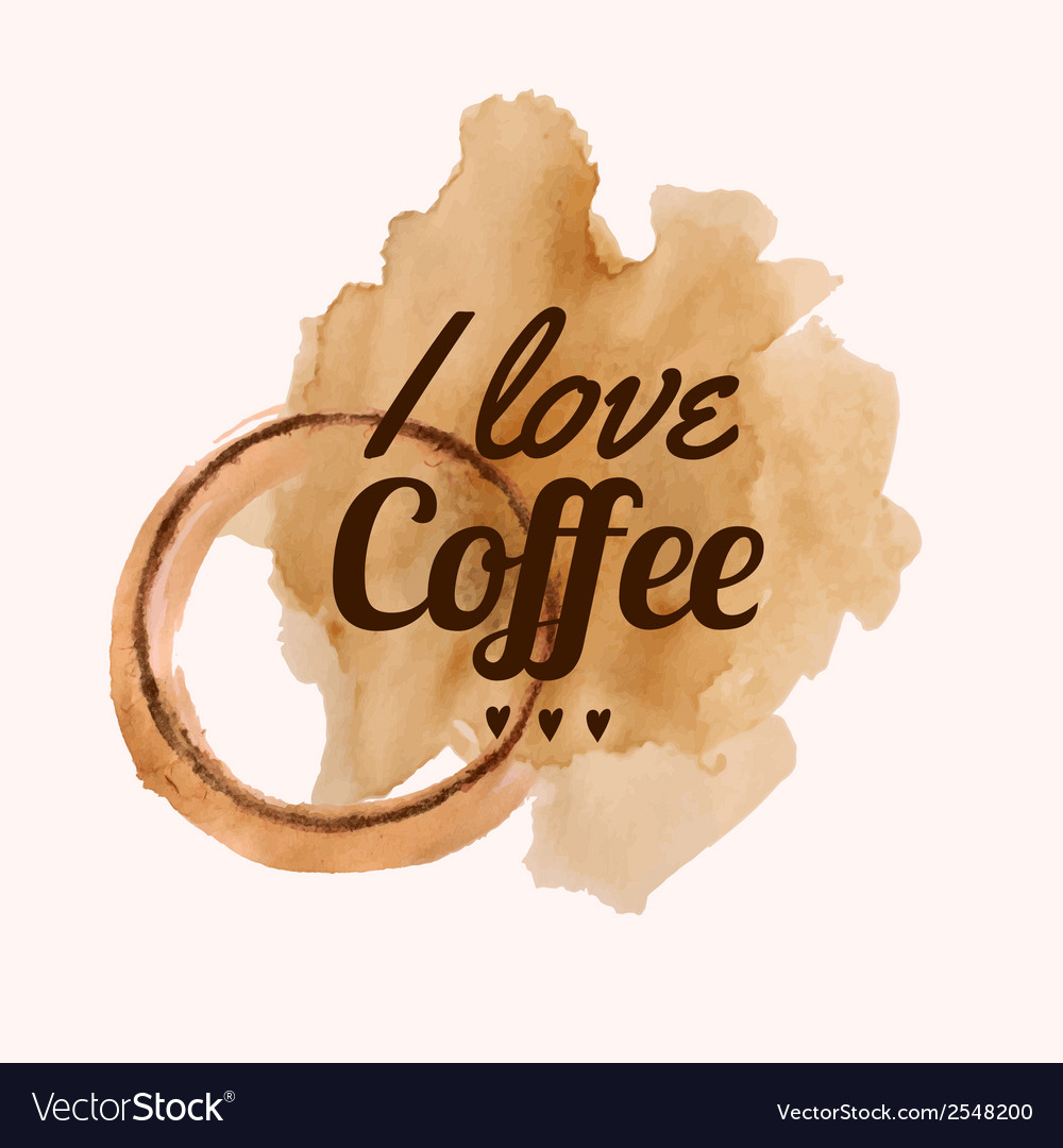 With I love coffee phrase and pour coffee