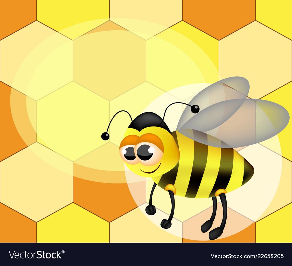 A cute cartoon bee
