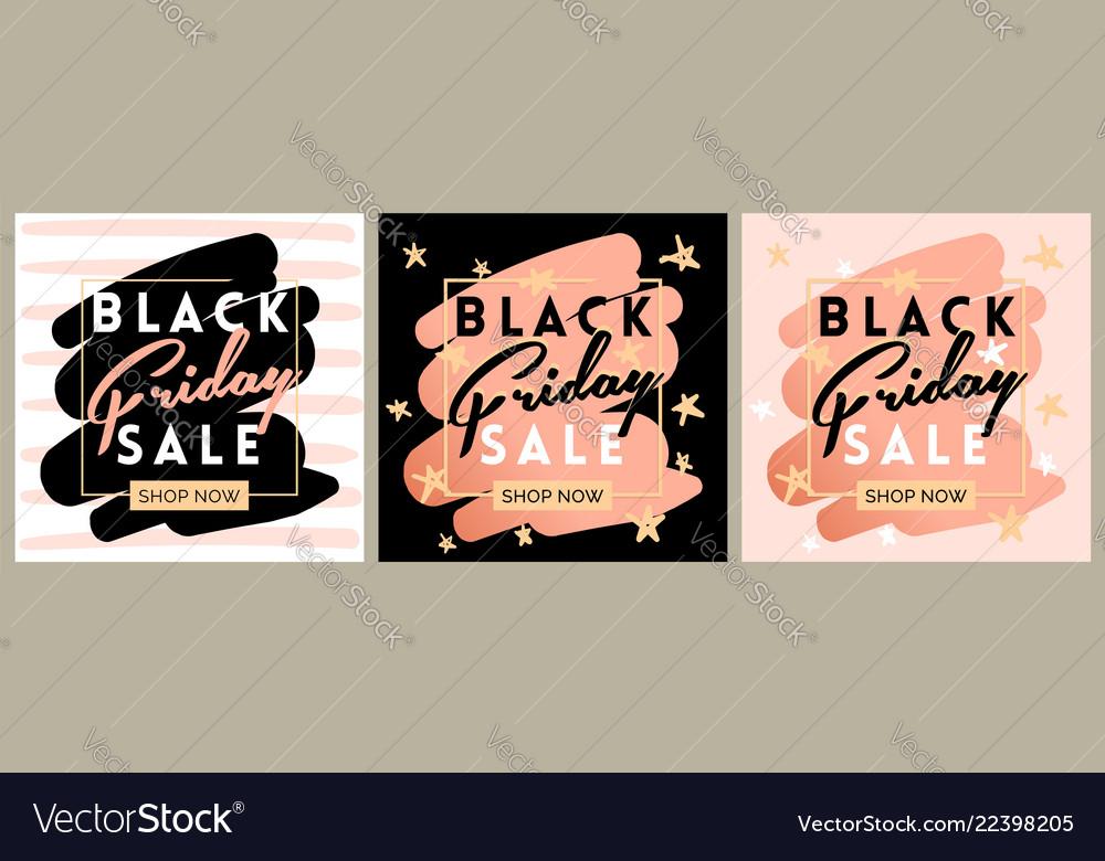 Black friday sale inscription invitation banner